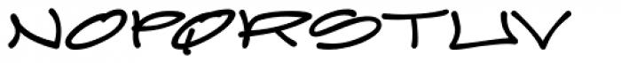 Joker Straight Letter Bold Regular Font UPPERCASE
