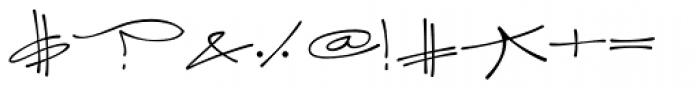 Joker Straight Letter Light Regular Font OTHER CHARS