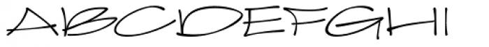 Joker Straight Letter Light Regular Font UPPERCASE
