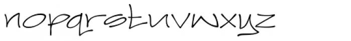 Joker Straight Letter Light Regular Font LOWERCASE