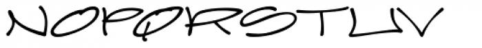 Joker Straight Letter Medium Regular Font UPPERCASE