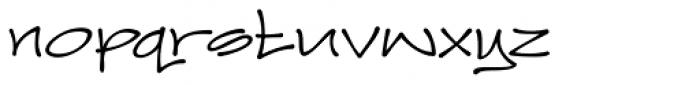 Joker Straight Letter Medium Regular Font LOWERCASE