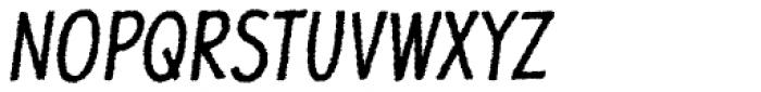Jolly Good Proper Condensed Rough Italic Font UPPERCASE
