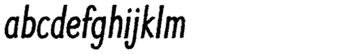 Jolly Good Proper Condensed Rough Italic Font LOWERCASE