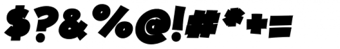 JollyGood Proper Black Italic Font OTHER CHARS