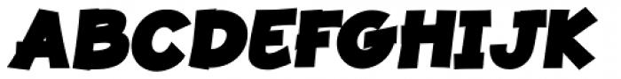 JollyGood Proper Black Italic Font UPPERCASE