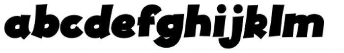 JollyGood Proper Black Italic Font LOWERCASE