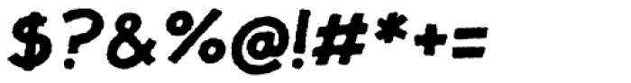 JollyGood Proper Rough Bold Italic Font OTHER CHARS