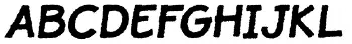 JollyGood Proper Rough Bold Italic Font UPPERCASE