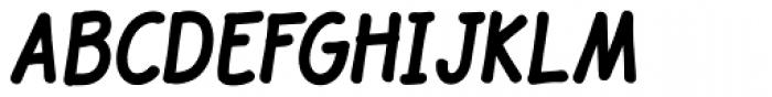 JollyGood Sans Condensed Bold Italic Font UPPERCASE