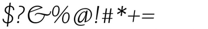 Josef Sans Light Italic Font OTHER CHARS