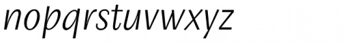 Josef Sans Light Italic Font LOWERCASE