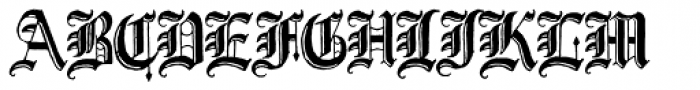 Journalistic Font UPPERCASE