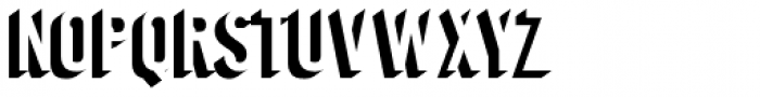 Journeyman Shadow Font UPPERCASE