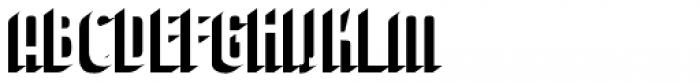 Journeyman Shadow Font LOWERCASE