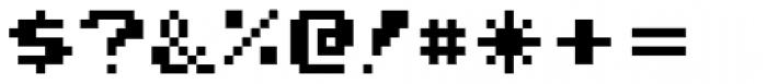 Joystix Proportional Font OTHER CHARS