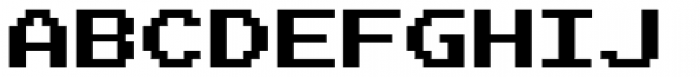 Joystix Proportional Font UPPERCASE