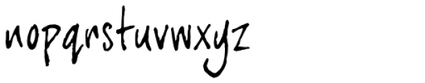 joeHand 3 Font LOWERCASE