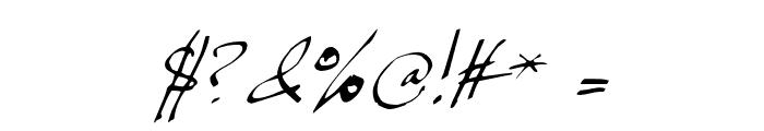 JP Hand Slanted Font OTHER CHARS