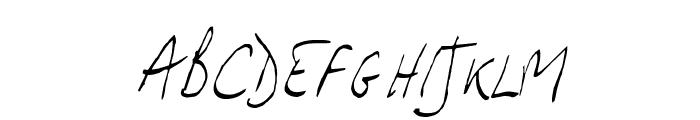 JP Hand Slanted Font UPPERCASE