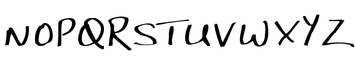 JP Hand Straight Font UPPERCASE