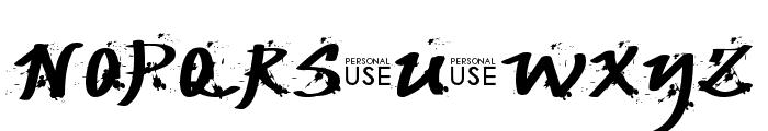 JP Urbaam  DEMO Grunge Font UPPERCASE