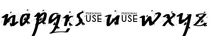 JP Urbaam  DEMO Grunge Font LOWERCASE