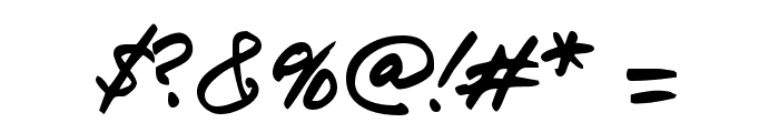 jr!hand Font OTHER CHARS