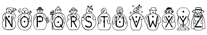 JS_Snowbiz Font UPPERCASE