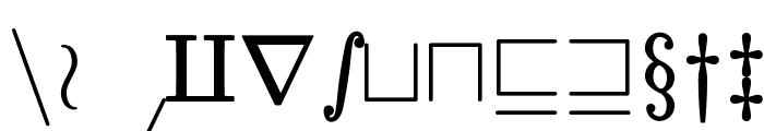 jsMath-cmsy10 Font LOWERCASE