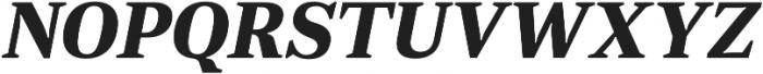 JT Douro-Serif Bold Italic otf (700) Font UPPERCASE
