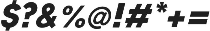 JT Leonor ExtraBold Italic otf (700) Font OTHER CHARS
