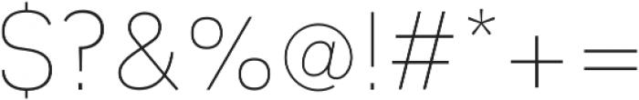 JT Leonor ExtraLight otf (200) Font OTHER CHARS