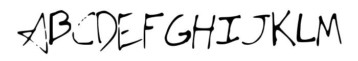 JTsVeryAmazingFont Font UPPERCASE