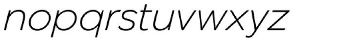 JT Marnie Light Italic Font LOWERCASE