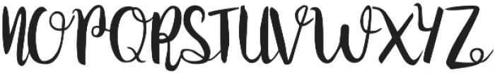 Juanita Brush Smooth Script otf (400) Font UPPERCASE