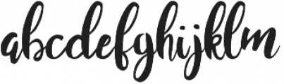 Juanita Brush Smooth Script otf (400) Font LOWERCASE