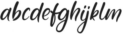 Jubilation Regular otf (400) Font LOWERCASE