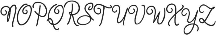 Judyth otf (400) Font UPPERCASE