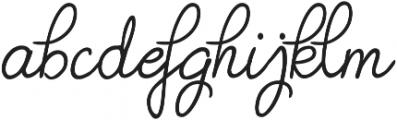Judyth otf (400) Font LOWERCASE
