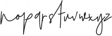 Julian Thomas otf (400) Font LOWERCASE