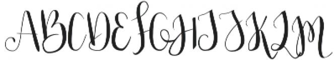 Julias Dream otf (400) Font UPPERCASE