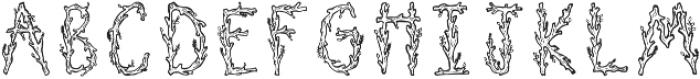 Juniper Regular otf (400) Font LOWERCASE