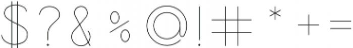 Jupiter Inline otf (400) Font OTHER CHARS