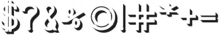 Jupiter Shadow otf (400) Font OTHER CHARS