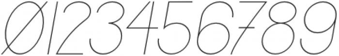 Jupiter Thin Italic otf (100) Font OTHER CHARS