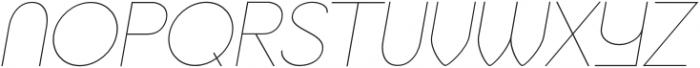 Jupiter Thin Italic otf (100) Font UPPERCASE