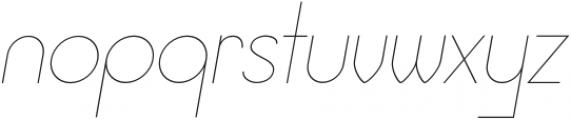 Jupiter Thin Italic otf (100) Font LOWERCASE