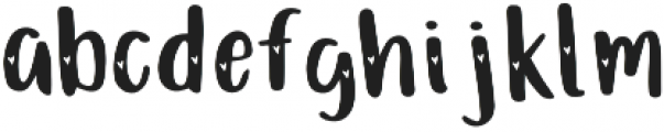 Just Darling Hearts otf (400) Font LOWERCASE