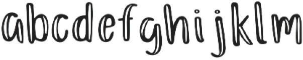 Just Darling Regular otf (400) Font LOWERCASE
